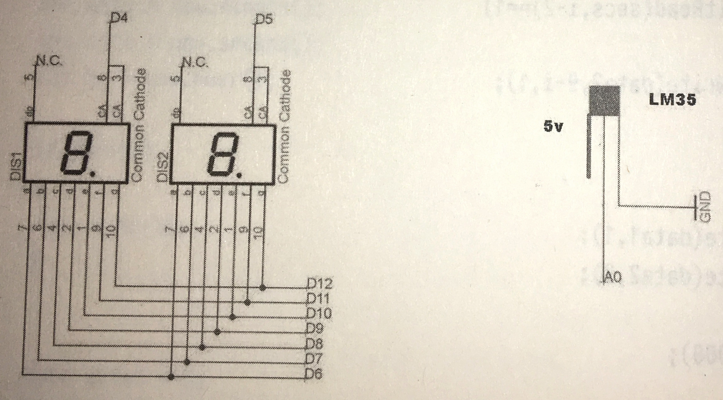 Arduino Segment Göstergesi İle Termometre