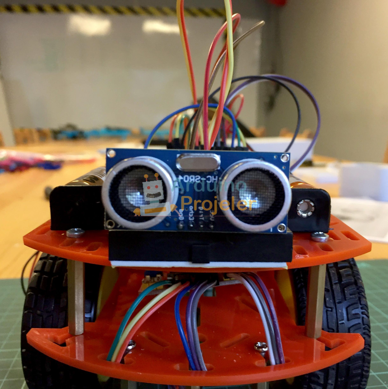 Engelden kaçan robot yapımı arduino projeleri