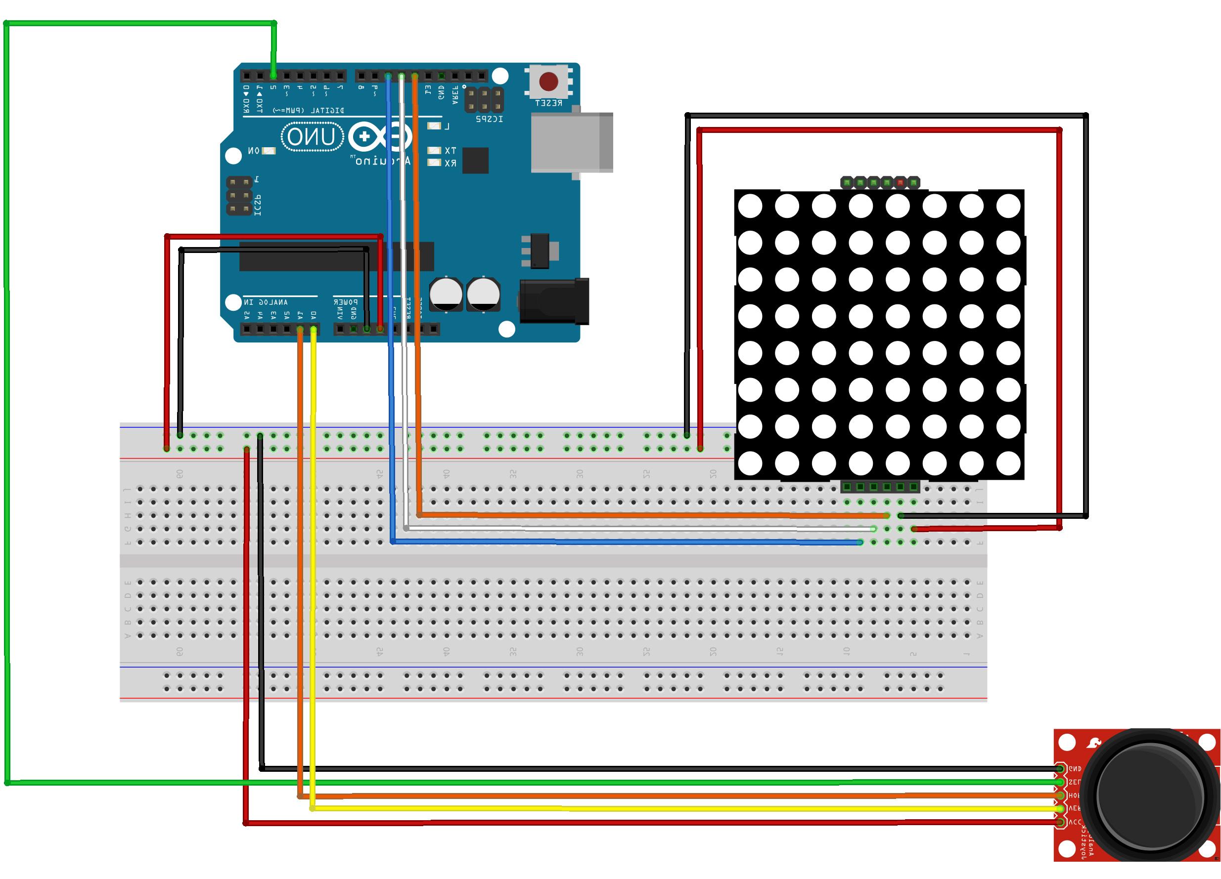 8x8 Led Matrix Şekil Çizdirme