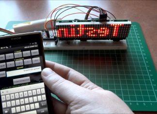 Android İke Dot Matrix'e Mesaj Gönderme
