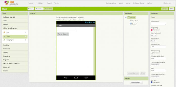 App Inventor 2 İle Mobil Programlama