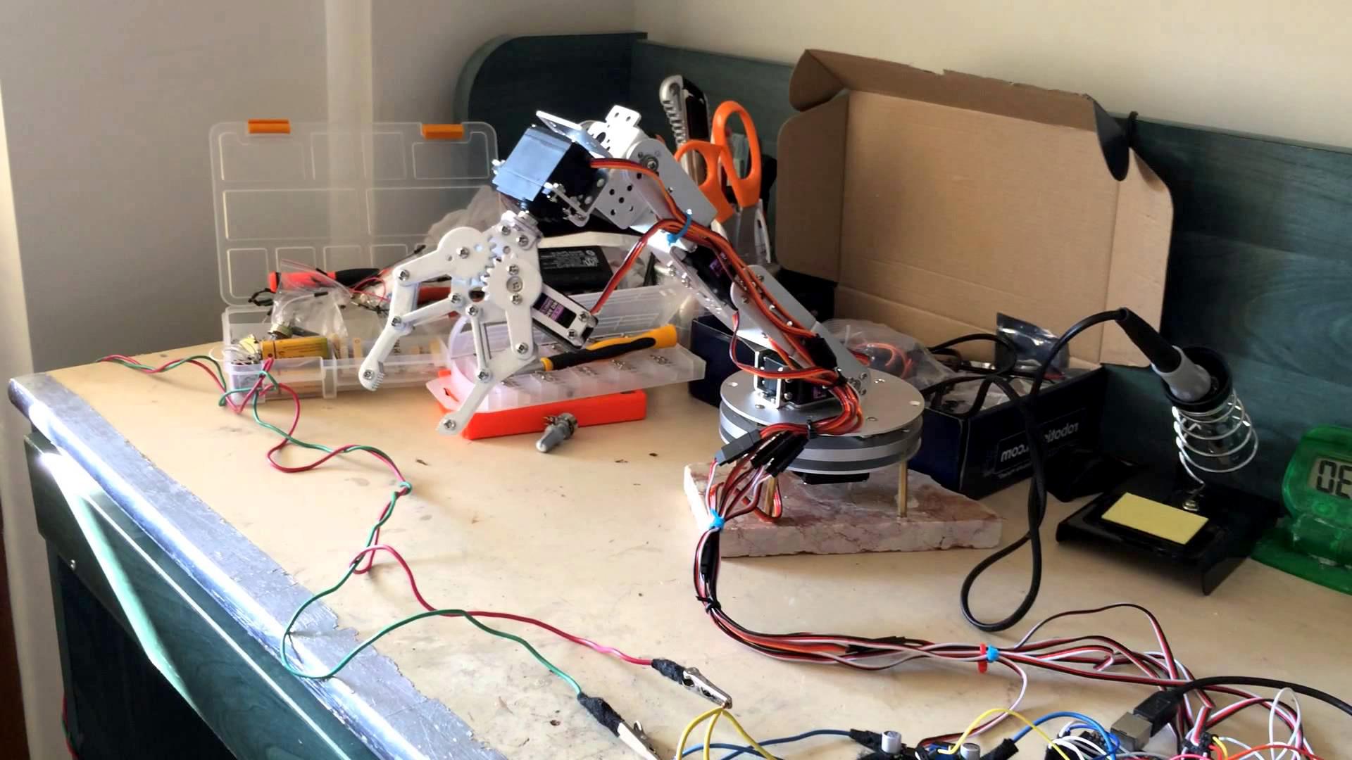 Arduino Basit Robot Kol Yapımı Robot Kol Kodları Arduino Projeleri